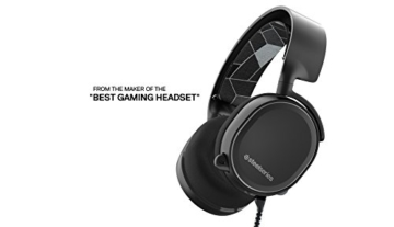SteelSeries Arctis 3 Gaming Headset (7.1 Surround für PC, Mikrofon ClearCast) - Schwarz -