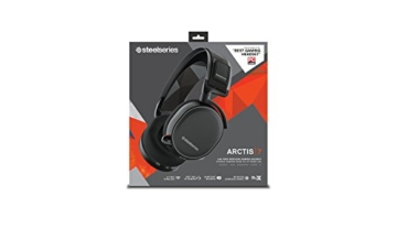 SteelSeries Arctis 7 Gaming Headset (Drahtlos, DTS 7.1 Surround für PC) - Schwarz -
